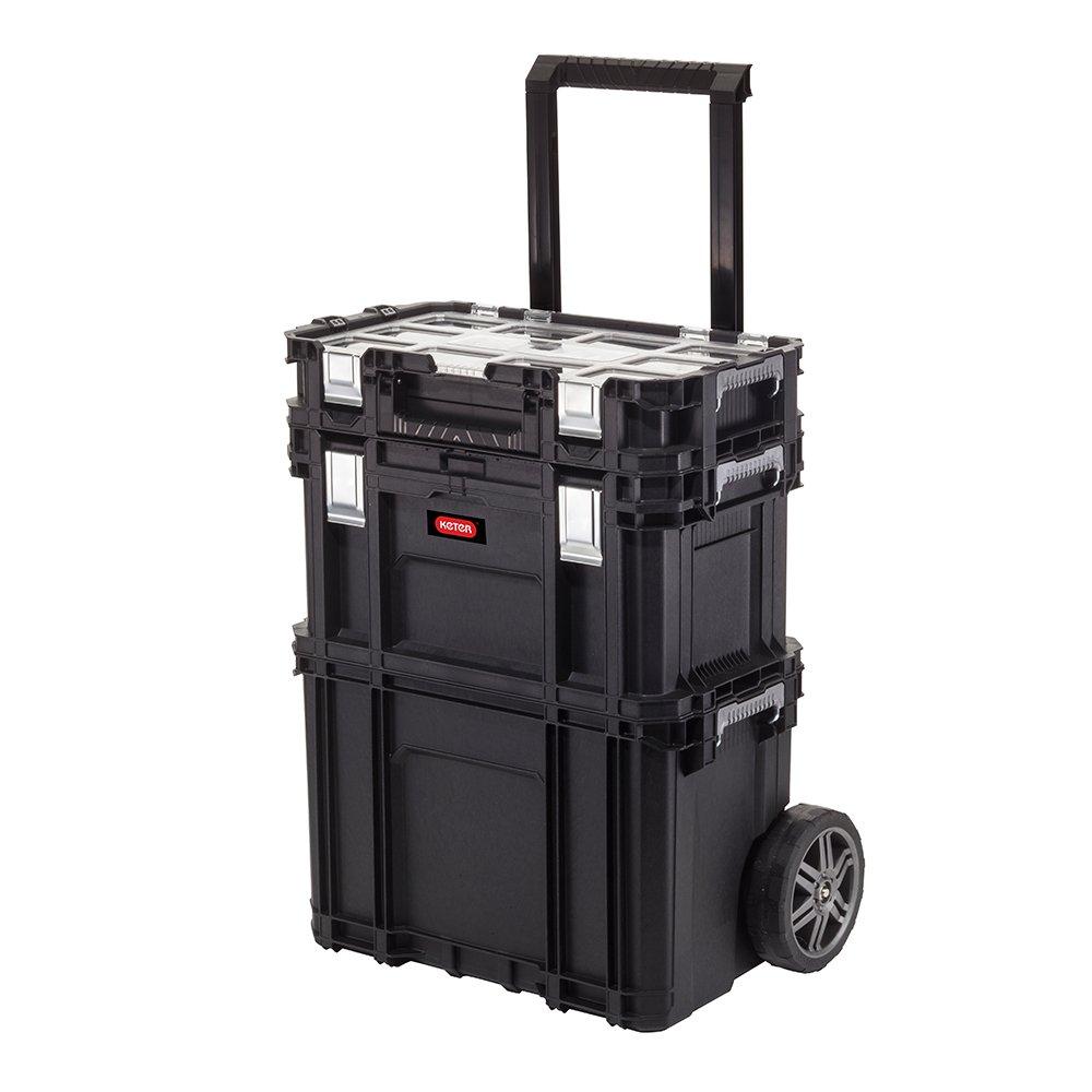 Keter 17203038 Connect Smart Rolling Organizerli 3 Katlı Tekerlekli Takım Çantası fiyatı