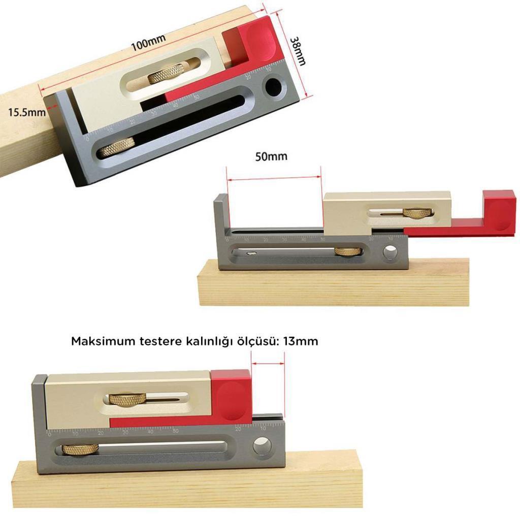 Rox Wood 0040 Alüminyum Hassas Zıvana Boşluk İşaretleme Aparatı ne işe yarar