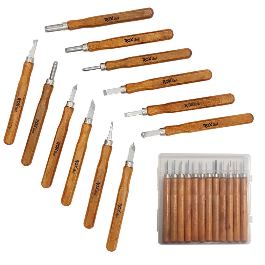 Rox Wood Mini Ahşap Oyma Bıçak Seti 12 Parça fiyatı