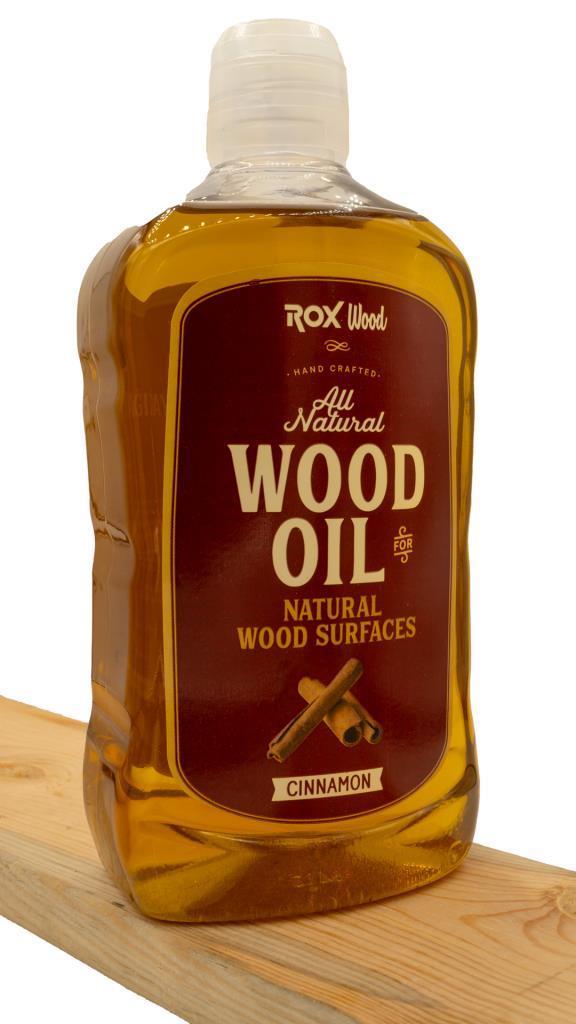Rox Wood 0121 Tarçınlı Doğal Ahşap Yağı 500 ml nasıl kullanılır